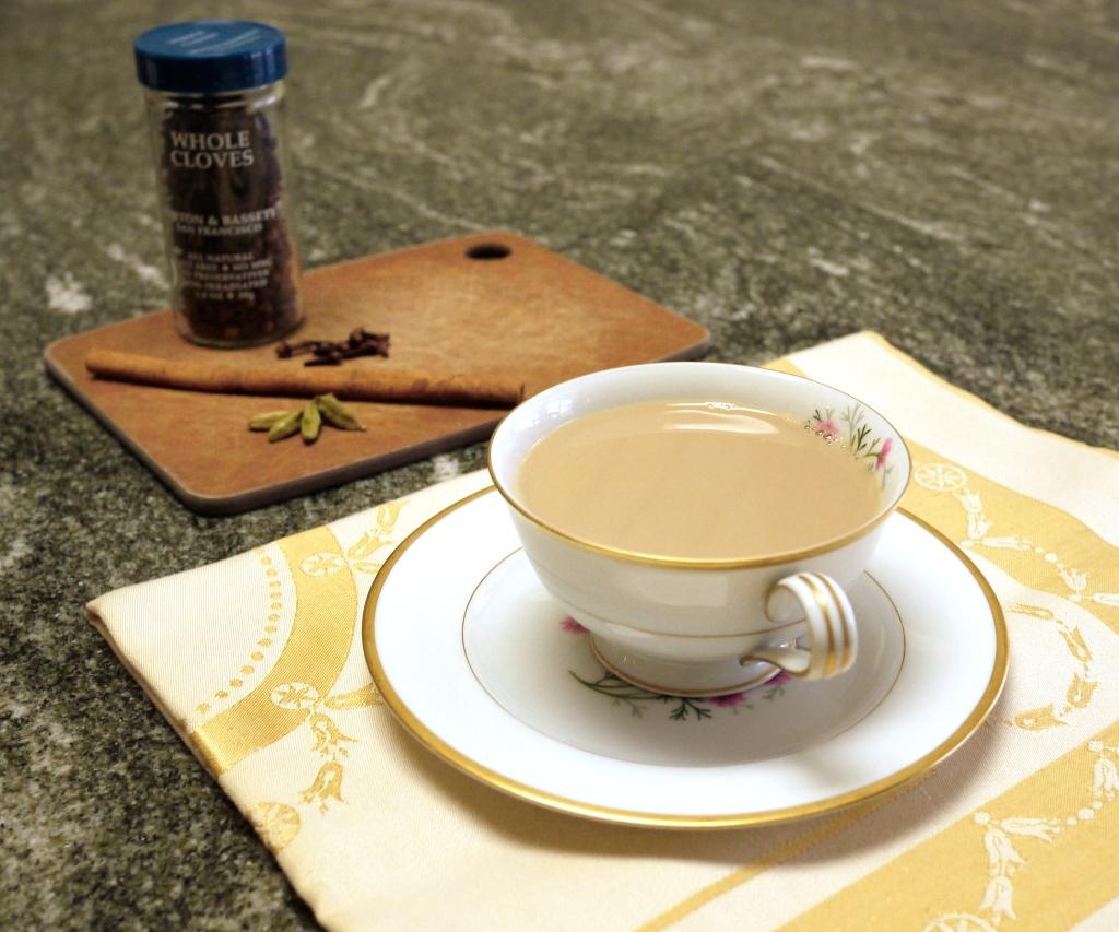 chai tea in teacup